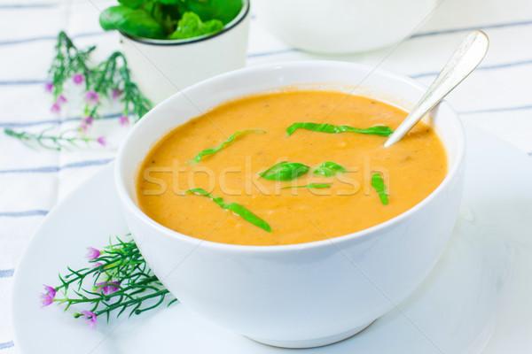 Vegetarian cream soup Stock photo © trexec