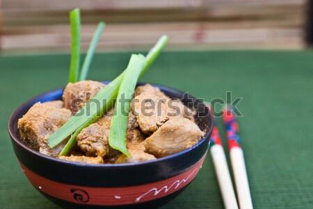 Kom chinese drinken diner Stockfoto © trexec