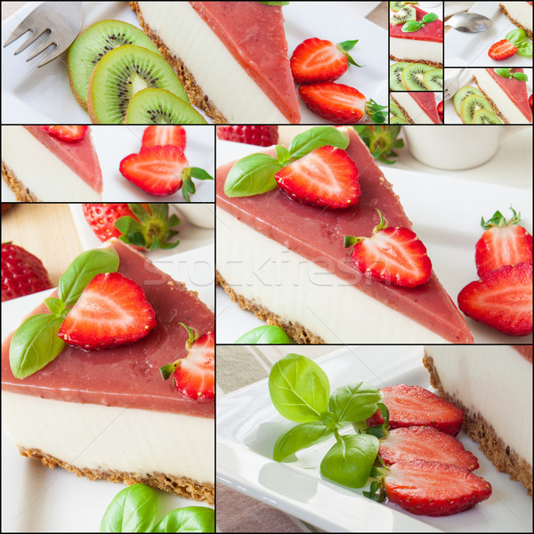 Cheesecake collage Stock photo © trexec