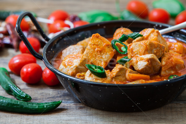 Red curry fish Stock photo © trexec