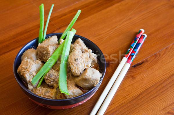 Chinês carne tigela porco marinado fresco Foto stock © trexec