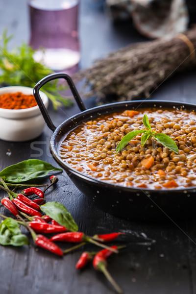 индийской стиль суп красный Сток-фото © trexec