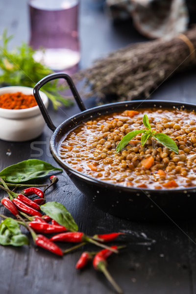 Comida indiana indiano estilo sopa vermelho Foto stock © trexec