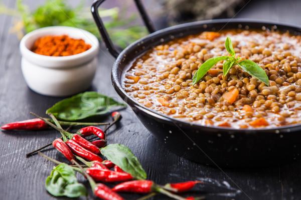 Indiai étel indiai stílus lencse leves piros Stock fotó © trexec