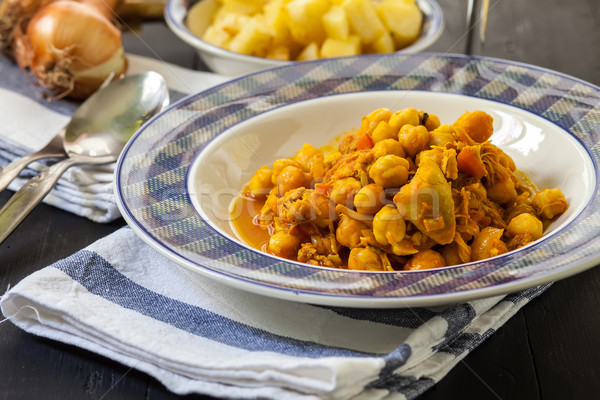 Cucina indiana pollo spezie cotto indian stile Foto d'archivio © trexec