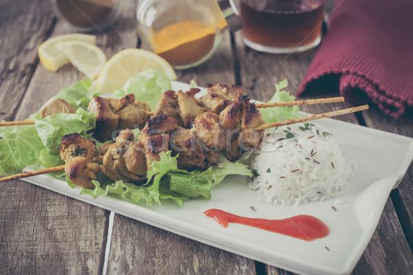 Frango quibe marinado espécies vintage jantar Foto stock © trexec