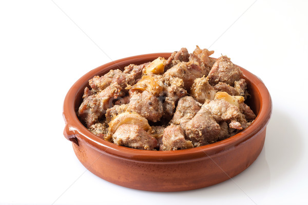 Pork fried style Stock photo © trexec