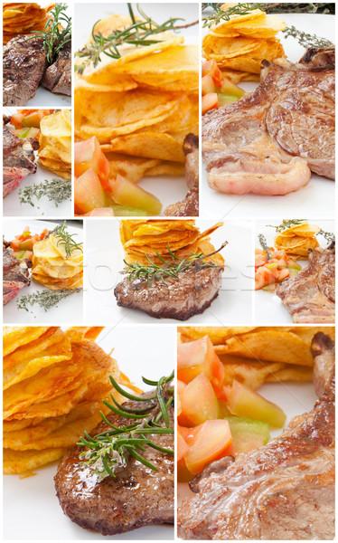 Vlees collage verschillend restaurant peper Stockfoto © trexec