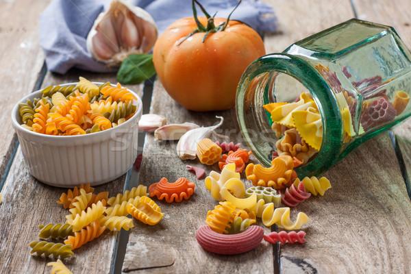 Italiano macarrão madeira laranja Foto stock © trexec