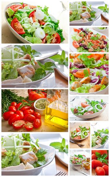 collage salad Stock photo © trexec