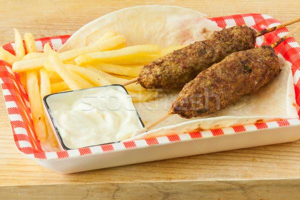 Tradicional francês pita pão comida carne Foto stock © trexec