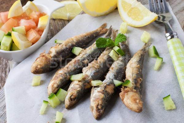 Fried fish Stock photo © trexec