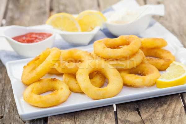 Calamari italian style Stock photo © trexec