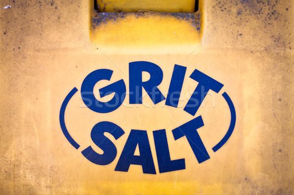 Gritting salt Stock photo © trgowanlock