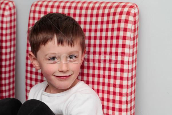 Boldog gyermek 5 éves fiú divat modell Stock fotó © trgowanlock