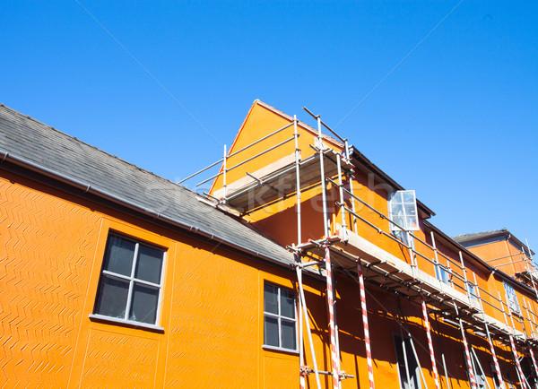 állványzat város épület család ház otthon Stock fotó © trgowanlock