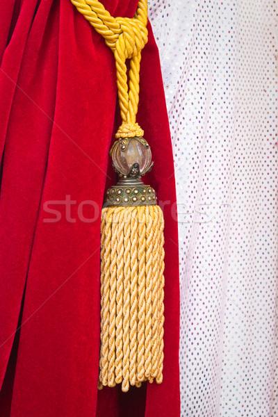 бархат занавес Nice красный назад строку Сток-фото © trgowanlock