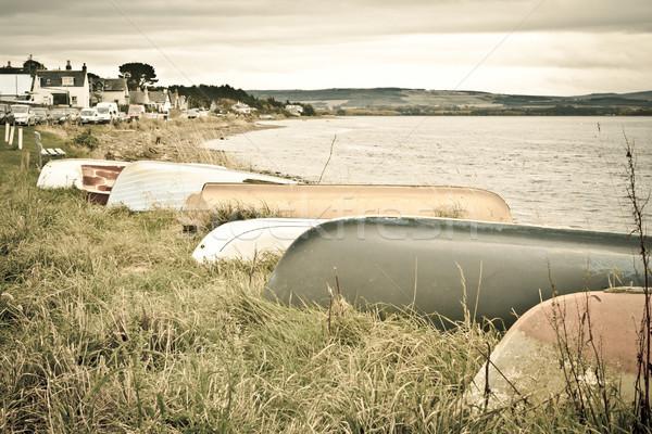 Boats at Findhorn Stock photo © trgowanlock