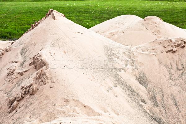 песок вверх гольф пляж гольф Сток-фото © trgowanlock