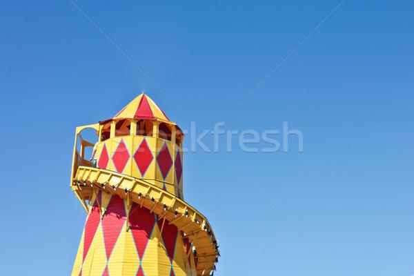Colorido torre verão dia azul vermelho Foto stock © trgowanlock