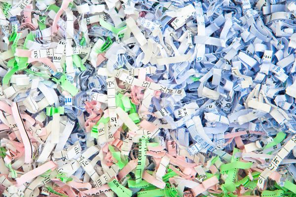 Shredded paper Stock photo © trgowanlock