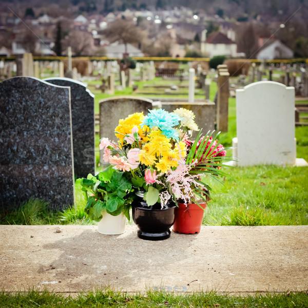 Cemetery Flowers Stock photo © trgowanlock