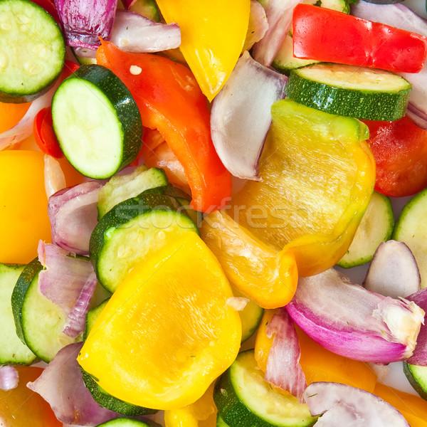 Karışık sebze canlı görüntü kıyılmış pişirme Stok fotoğraf © trgowanlock