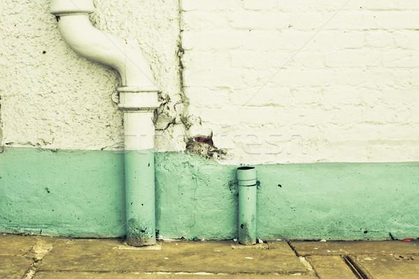 Fuga tubi bianco muro sfondo mattone Foto d'archivio © trgowanlock