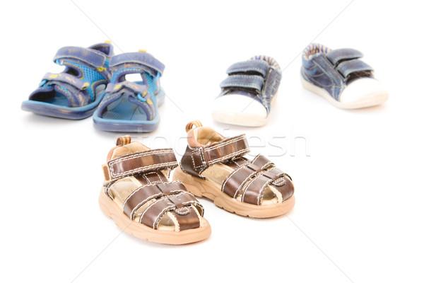 Children's footwear Stock photo © trgowanlock