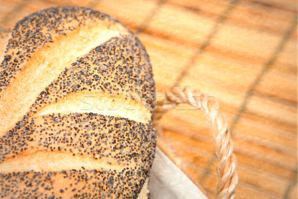 Vers brood vers gebakken brood broodmand Stockfoto © trgowanlock