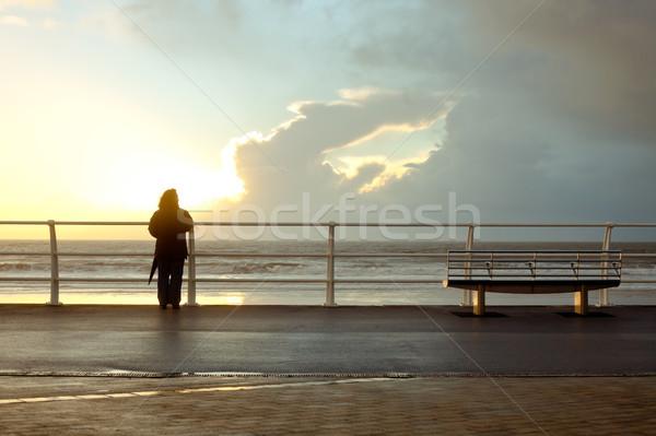 Seaside person Stock photo © trgowanlock
