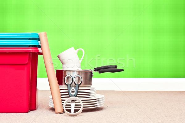 Moving house Stock photo © trgowanlock