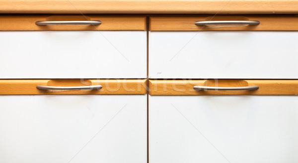 Moderno madeira projeto Foto stock © trgowanlock