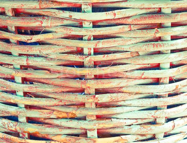 Wiklina koszyka tekstury streszczenie Zdjęcia stock © trgowanlock