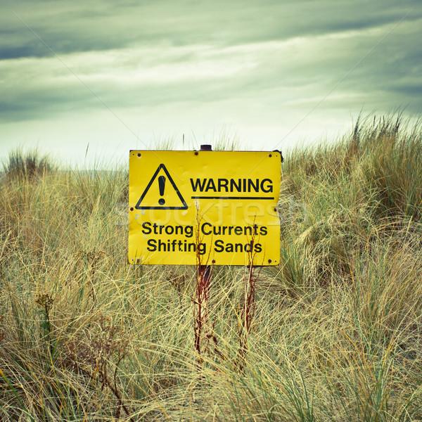 Beach warning sign Stock photo © trgowanlock