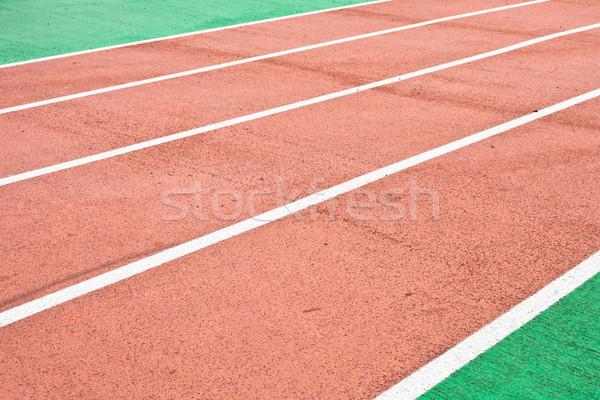 Yarış izlemek spor arka plan model koşucu Stok fotoğraf © trgowanlock