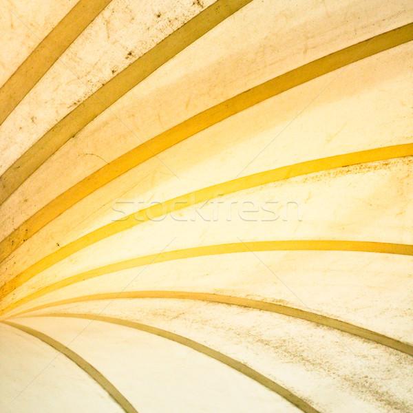 Koszos absztrakt kép építészet tető műanyag Stock fotó © trgowanlock