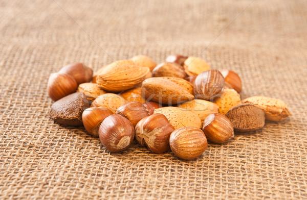 Gemengd noten weefsel shell patroon gezonde Stockfoto © trgowanlock