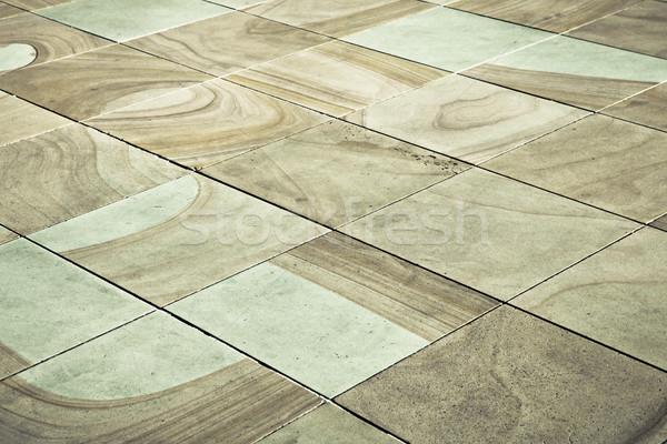 Vierkante rock beton grond trottoir outdoor Stockfoto © trgowanlock