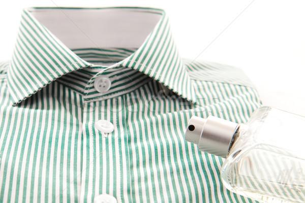 Pólók elegáns divat férfiak zöld bolt Stock fotó © trgowanlock
