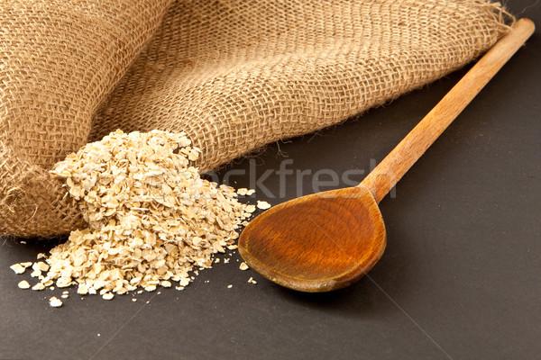 Cuchara de madera alimentos cocina tienda cuchara saludable Foto stock © trgowanlock