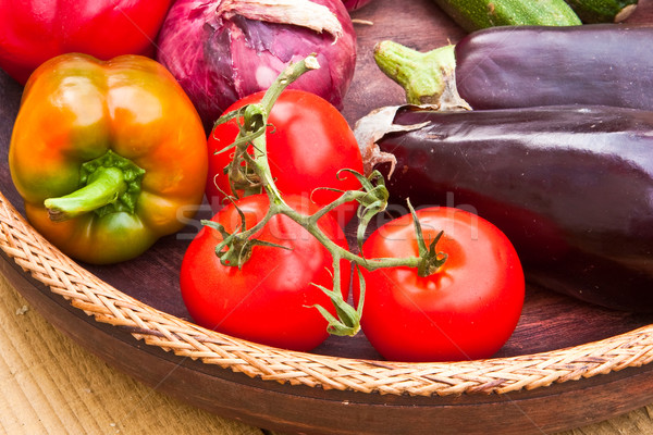 Gyümölcs zöldségek friss étel egészség diéta Stock fotó © trgowanlock