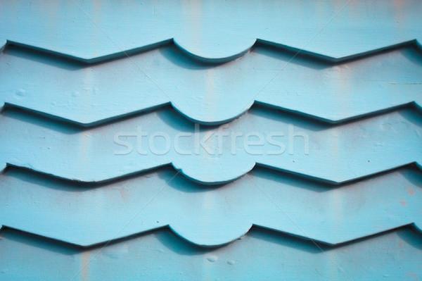 blue wood panels Stock photo © trgowanlock