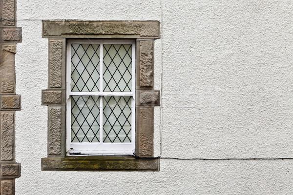 Huisje venster steen Schotland huis gebouw Stockfoto © trgowanlock