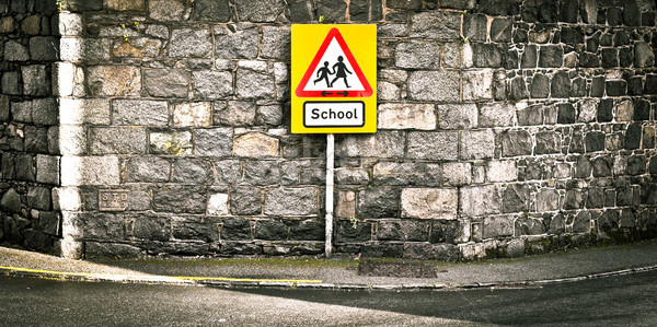 School sign Stock photo © trgowanlock