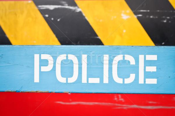 Polis imzalamak parlak renkler yazı Stok fotoğraf © trgowanlock