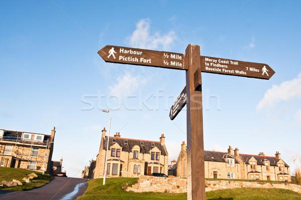 Burghead signpost Stock photo © trgowanlock