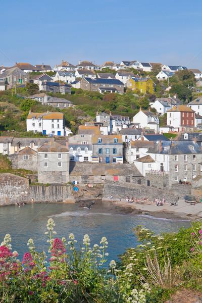 View of Port Isaac bay in Cornwall Stock photo © trgowanlock