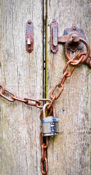 заблокированный ворот изображение двери Сток-фото © trgowanlock