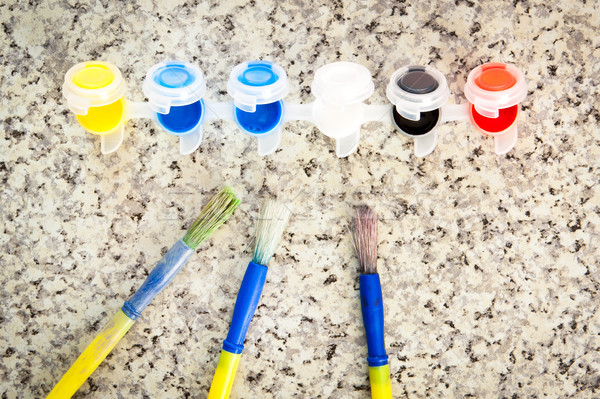 Paint brushes Stock photo © trgowanlock